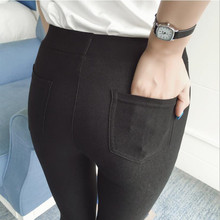 Buy Fashion Women Casual Slim Stretch Denim Leggings Jeggings Pencil Pants Autumn Winter Skinny black Leggings Womens Clothing for $8.39 in AliExpress store