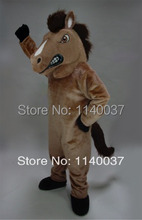 mascot brown Mustang Horse Mascot Costume custom fancy costume anime cosplay kits mascotte theme fancy dress carnival costume(China)