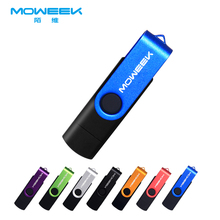 MOWEEK Swivel usb 2.0 flash drive 4GB/8GB/16GB32GB/64GB Pen Drive USB 2.0 Memory stick USB stick Promotion GIFT USB FLASH DRIVE