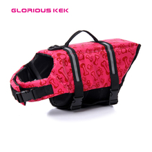 2016 NEW Summer Safety and Comfortable Pink&Blue Small Dog Life Jacket Vest with Reflective Piping Webbing XXS to XXL 7 Sizes(China)