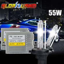 one set H7 xenon kit 0.1 Second Fast Bright F5 55w  HID kit H1 H3 H4 H11 9005 9006 HB4 D2S 881 4300k 5000k 6000k 8000k 10000k