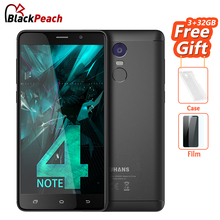 UHANS Note 4 3GB RAM 32GB ROM Mobile Phone 5.5 inch HD MTK6737 Quad Core Android 7.0 13MP Cam 4000mAh Fingerprint Cellphone(China)
