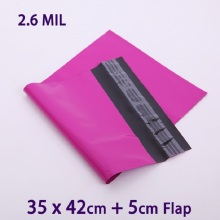 50 Pcs 35x42cm Purple Self-seal Adhesive Poly Mailers Plastic Envelope Courier bag Mailer Postal Shipping Mailing Bags(China)