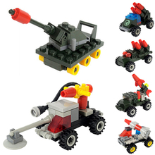 6 Patterns Kids Mini Model Car Assemble Demining Lunar Military Engineering Vehicle Toys