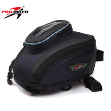 PRO-BIKER Strap Mount Motorcycle Tank Bag Waterproof Magnetic Oil Fuel Tank Bag Motorbike Portable Tail Bag Moto Luggage