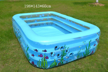VILEAD Family Children's Inflatable Pool Infant Swimming Pool Ball Basin Family Swimming Pool Children Dabble Paddle