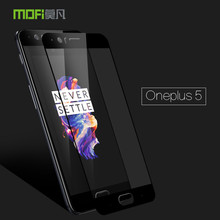 Oneplus 5 Glass Tempered Original MOFi 9H Protective Film Oneplus5 Screen Protector Oneplus 5 Tempered Glass Black White Gold(China)