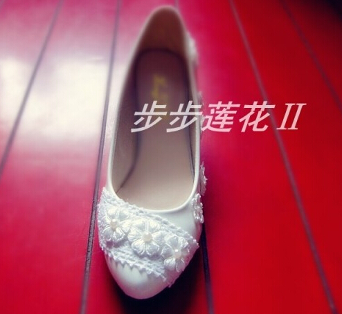 Middle heels woman spring summer wedding shoes Ivory color the bridesmaid shoes party pumps for woman XNA 232<br>