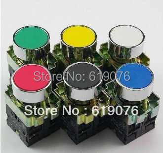 10PCS Xb2BA21 XB2BA31 XB2BA41 XB2BA51  Push button Switch 22mm 1NO momentary  six Color optional red yellow blue white<br><br>Aliexpress