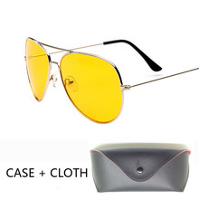 Day Night Vision drive Sunglasses glasses Men with Package pilot sun Glasses pilot Brand Women black mirror oculos de sol