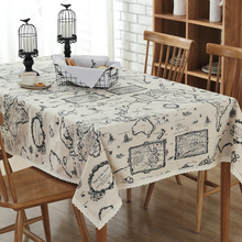 2016 New Arrival Table Cloth World Map High Quality Lace Tablecloth Decorative Elegant Table Cloth Linen Table Cover H2170102101