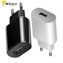 Buy Twitch 5V 2A EU Plug USB Fast Charger Samsung Xiaomi Universal Mobile Phone Wall Travel Power Adapter iPhone 6 7 8 Plus for $2.89 in AliExpress store