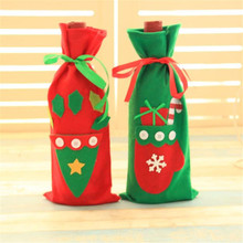 Happy Sale    Wine Bottle Cover Bags Decoration Home Party Santa Claus Christmas Oct107