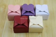 Free Shipping 5Colors Choice Sweet Heart Weding Favor Box Pearl Paper Chocolate Boxes Event & Party Gift Candy Boxes Supplies
