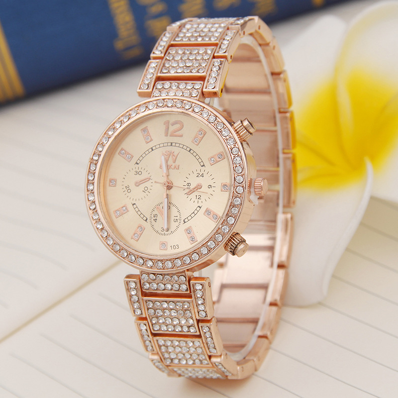 2017 Famous Brand Watches Women Ladies Crystal Diamond Quartz-watch Luxury Rose Gold Wrist Watches For Women Relojes Mujer<br><br>Aliexpress