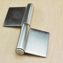Stainless steel flag hinge 5 inch non-hole thickened welded hinge for heavy door x3(China)
