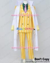 One Piece Cosplay Admiral Sakazuki Kizaru Borsalino Costume Yellow Stripe  H008(China)
