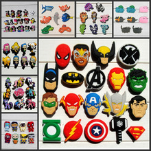 Free shipping,11-19pcs Cartoon PVC shoe charms shoe decoration shoe accessories for Wristbands,Fit croc jibz,Kids Party Gift(China)