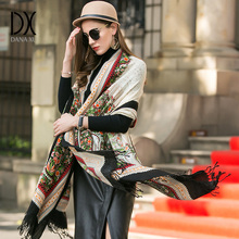 DANAXU New Winter Scarf Women Plaid Blanket Cashmere Pashmina Shawl Fashion Scarves and Shawls Luxury Brand Scarf Tops for Women(China)