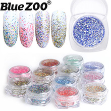 Symphony Glitter Dust Chrome Pigment Holographic Powder DIY Kit Multi-color 12 Bottles Nail Art Decorations Sequin Set