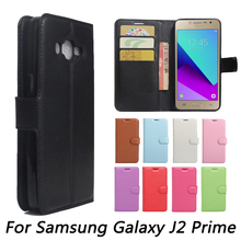 Wallet PU Leather Case For Samsung Galaxy J2 Prime With Stand Card Holder PhoneCases Bag Flip Cover(China)