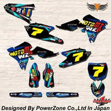 WR YZ YZF 125 250 400 450  Team Graphics Backgrounds Decals Stickers AFAM Motor cross Motorcycle Dirt Bike MX Racing Parts