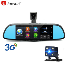 "Junsun 7"" Touch 3G Special Car DVR Camera Mirror GPS Bluetooth 16GB Android 5.0 Dual Lens Full HD 1080p Video Recorder Dash Cam(China)"