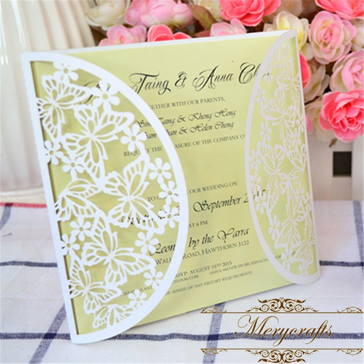 Aliexpress Com Erfly Design Wedding Invitations Card 2017 Decorative Items For Latest Designs From Reliable