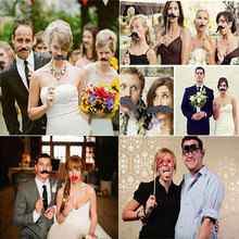 58pcs/set DIY Masks Photo Booth Wedding Decoration Birthday Props Mustache Glasses Lips ZQ602658(China)