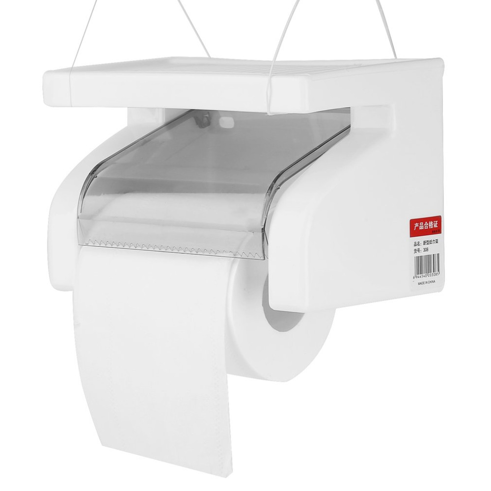 Home Improvement Bathroom Fixtures Bright New Modern Portable Toilet Paper Holder Aluminum Bathroom Tissue Holder Wall Mounted Paper Roll Holder Box Wall Hanging