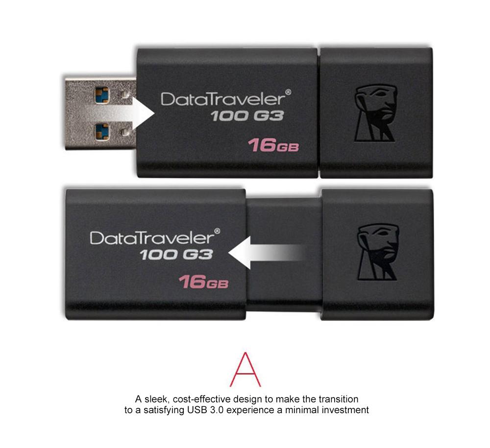 Kingston USB Flash Drives DT100G3 USB 3.0 Pendrive 64GB 32GB 16GB 128GB Pen Drive Plastic Sleek Memory Stick 100% Original (6)
