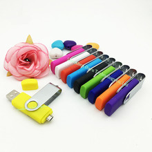 Full capacity intelligent mobile phone rotation Mobile phone usb flash drive 32gb flat twin plug OTG Mobile flash card 16gb 32gb