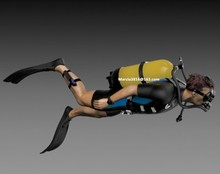 1/35 scale Male Diver Resin Model Kit figure Free Shipping