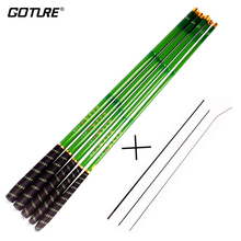 Goture Telescopic Fishing Rod Carbon Fiber Fishing Pole Ultra-light Carp Rod 3.6-7.2M with Spare Front Three Sections
