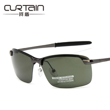 CURTAIN 2018 Men's polarized sunglasses aluminum magnesium frame car driving sunglasses men sports for fishing golf 3043(China)