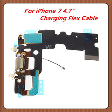 10pcs Charging Flex Cable for iPhone 7 4.7''  USB Port Dock Connector with Mic Flex Cable