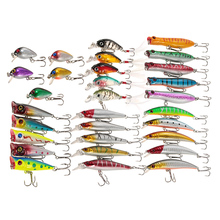 Fly Fishing Lures Set Kit 30pcs Pesca Assorted Size Minnow Wobbler 3D eyes China Hard Bait Jia Lure Wobbler Carp Fishing Tackle(China)