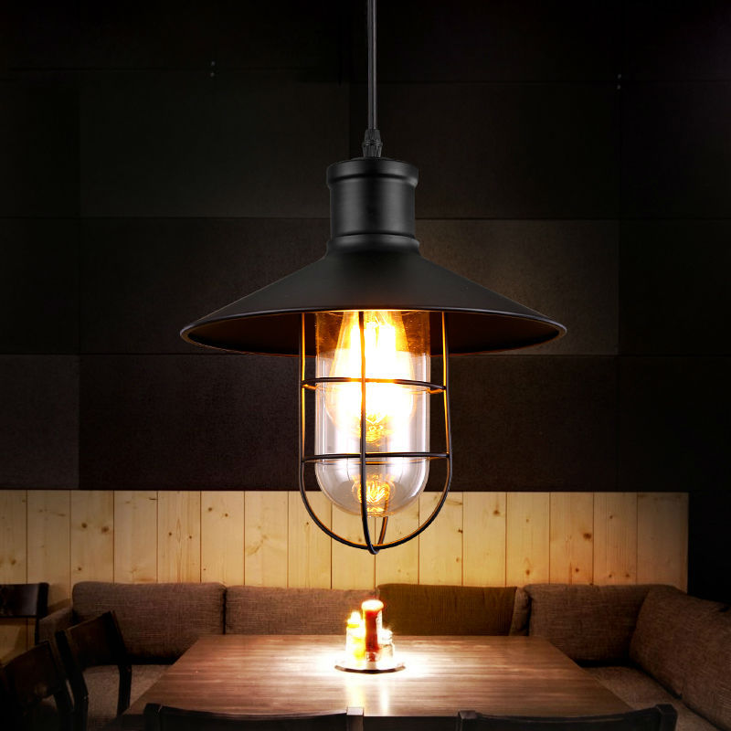 Retro Pendant Light E27 Edison Single Head Iron Attic Pendant Lamp Industrial Warehouse Restaurant Bar CounterI Office<br>