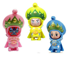 10cm Small Cute Chinese Traditional Bian Lian Art Face Changing Dolls Souvenir Kids Adult Finger Toys Keychain Christmas Gifts(China)