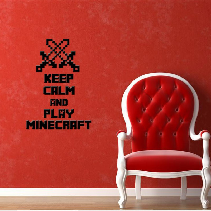 HTB1MJYanBcHL1JjSZJiq6AKcpXai - Newest Minecraft Wall Stickers 3D Wallpapers Kids Room Decals Minecraft Steve Home Decoration Popular Games Home Free Shipping