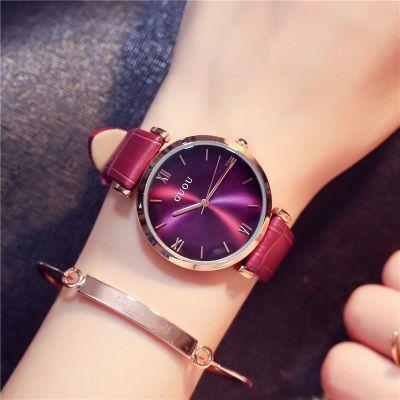 Classic Durable Original GUOU Brand Quartz Wrist Watches Wristwatch for Women Girls Ladies Black White Red 8149 OP001<br>