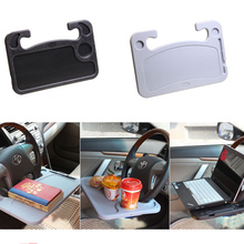 Car Steering Wheel Card Table Laptop Desk Worktable Dish Snacks Drink Holder Auto Supplies Universal Accessories Multi-function