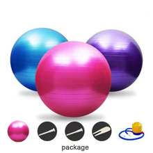 2mm PVC Yoga Ball Exercise Pilates Balance Sport Shaping Gymnastic Fitness Ball 55cm 65cm 75cm Inflation Explosion-proof KA30(China)
