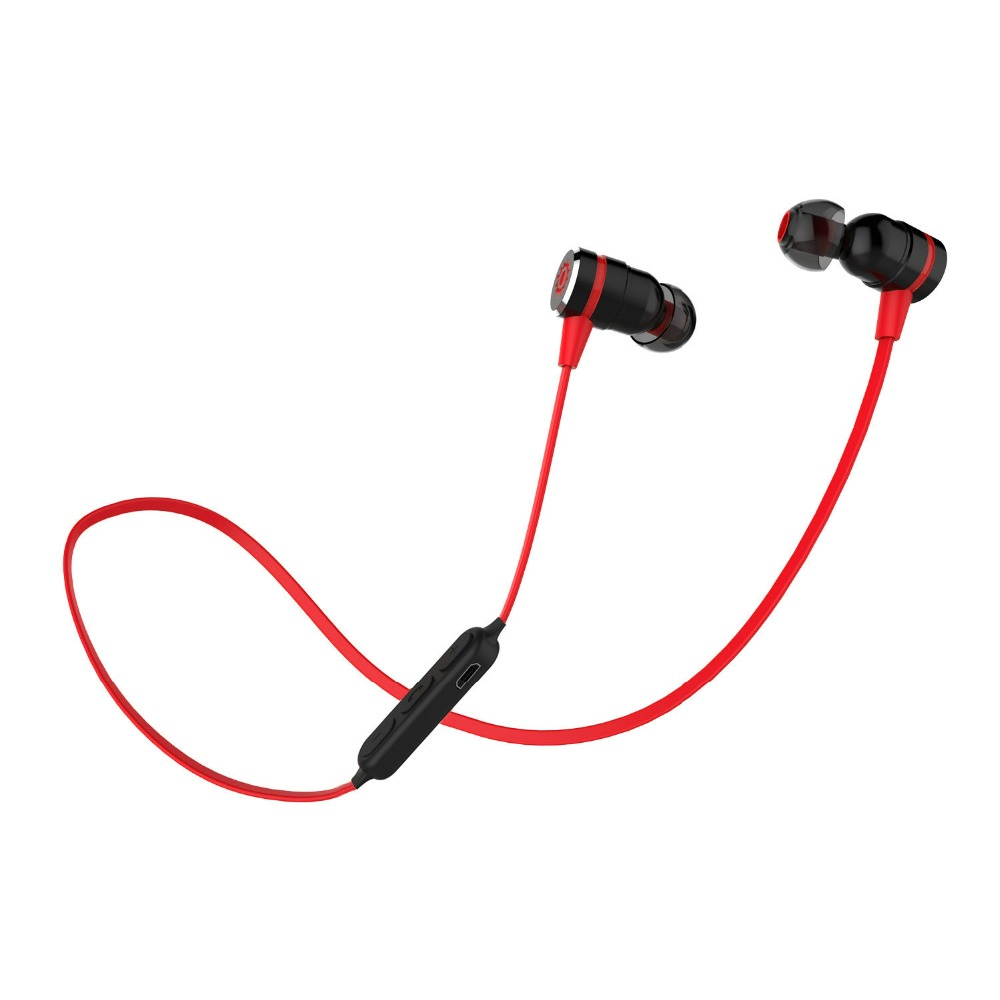 Ship in 48 Hours! Plextone BX335 Magnetic Switch Wireless Sport Earphones Sweatproof Stereo Bluetooth 4.1 Headset with MIC <br>