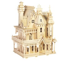 BOHS Victorian Dollhouse Toys Fantasy Villa 3D Puzzle DIY Scale Models and Building for Adult(China)