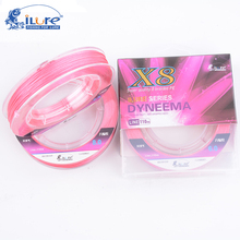 100M 8 Strand Braided Fishing Line High Strong PE Material Braid Multifilament Fishing Line Pink With Pink Color(China)