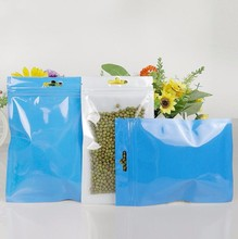 Clear plastic Pearl film zip lock Bag Self Seal Zipper Packing Bag Retail Resealable Valve Packaging Bag Pouch with hanging hole