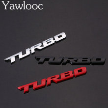 Yawlooc 1 PC 3D Car Emblem Sticker TURBO METAL GRILL Rear Trunk Car Badge for Audi BMW Ford focus VW skoda seat Peugeot Renault(China)