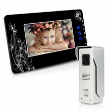 7 Inch Wired Video Door Phone Video Intercom System Unlock/Monitor IR Camera Doorbell for Home Apartment F1641A