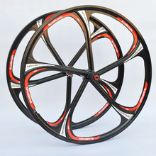 New 26-Inch Mountain Bicycle Magnesium Alloy Lntegrally Molded Five Spokes Wheel Compatible 8/9/10 Speed Cassette Sprockets